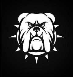 White Bulldog Face vector image
