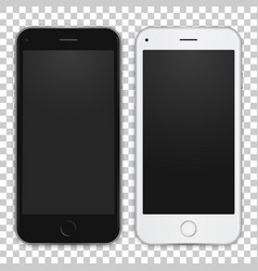 Set of black and white smart phone to present your vector