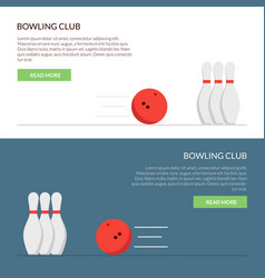 banner or cap for the site of a bowling club set vector image