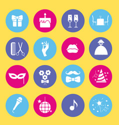 Entertainment and shopping icon set vector