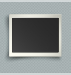 retro realistic horizontal blank instant photo vector image