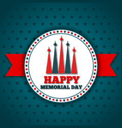 Happy memorial day greeting card vector