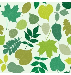Tree leaves seamless pattern vector