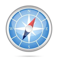 Modern compass icon vector