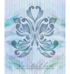 Vintage beautiful butterfly vector