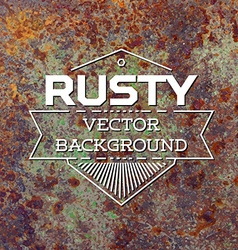 Rusty metal background vector