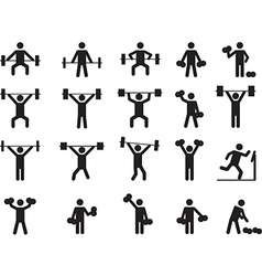 Pictogram people with weights vector image