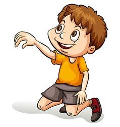 Cute little man vector image