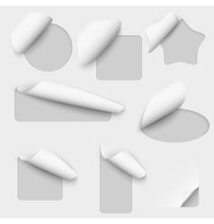 paper cutout labels vector image