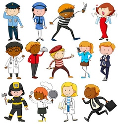 People with different occupations vector