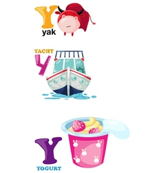 Alphabet letter - y vector