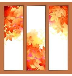 Autumn Watercolor Headers vector image