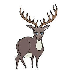 cute deer reindeer caribou cartoon caracter vector image vector image