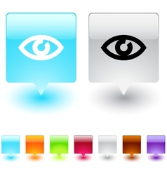 Eye square button vector image
