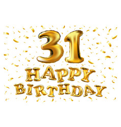 golden number 31 thirty one made of inflatable vector image
