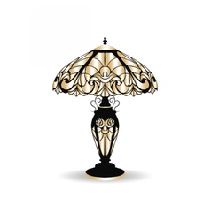 Golden vintage baroque classic lamp vector