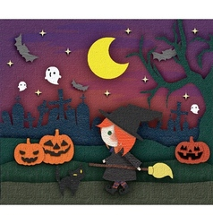 halloween cute card vector image
