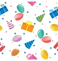 Happy Birthday Seamless Pattern with Gift Boxes vector image vector image