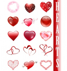 heart collection vector image