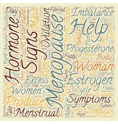 Menopause help for menopause signs symptoms text vector