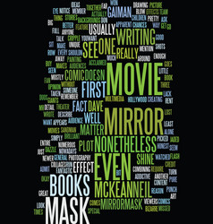 Mirror mask text background word cloud concept vector