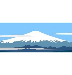 panorama of fujiyama vector image vector image