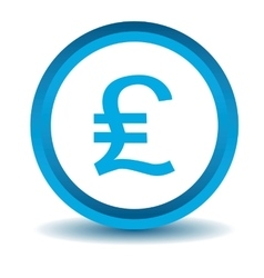 Pound sterling icon blue 3d vector