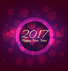 Purple bokeh background for new year 2017 season vector