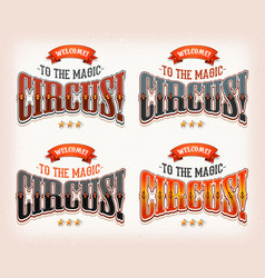 retro circus banners vector image