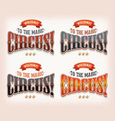 Retro circus banners vector