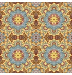 Seamless oriental ornamental pattern vector image
