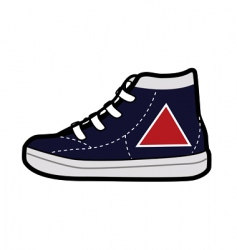 shoe vector image