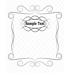 simple frame vector image vector image