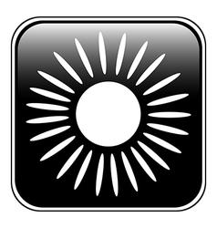 Sun button vector image vector image