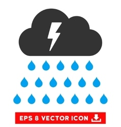 Thunderstorm Rain Cloud Eps Icon vector image vector image
