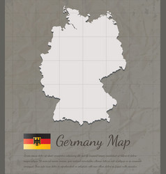 Vintage germany map paper card map silhouette vector
