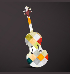 Violin abstract musical instrument music symbol vector