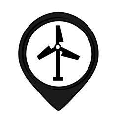 Turbine pin pointer caution signal icon vector
