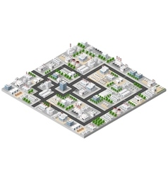 Top view of the city vector
