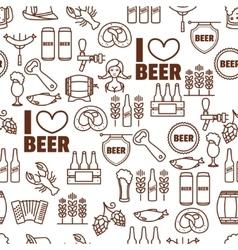 Seamless background of Oktoberfest elements vector image