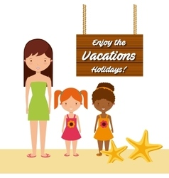 Enjoy the vacations holidays vector