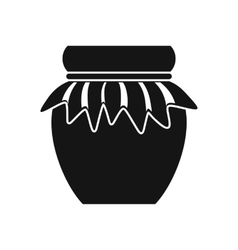 Jam in glass jar icon simple style vector