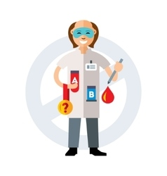 Doping test flat style colorful cartoon vector