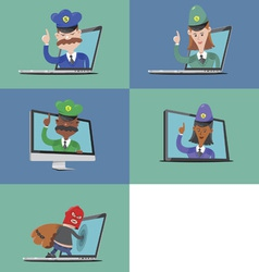 Breaking the law online vector