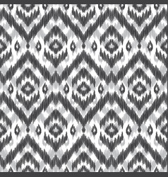 Seamless ikat pattern vector