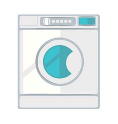 White laundry machine vector