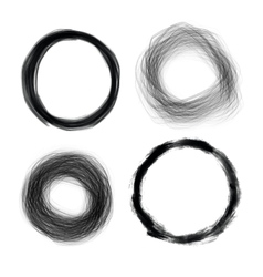 Hand drawn painted grunge circles  design el vector