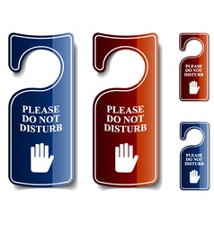 Do not disturb door hangers vector