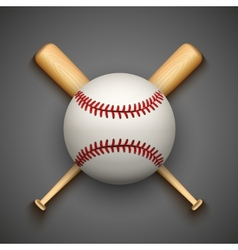 dark background of baseball leather ball and vector image