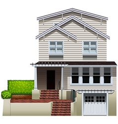 A multi-story house vector